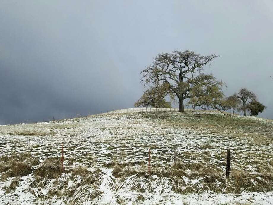Areas of Monterey County got a light dusting of snow on President's Day thanks to a cold spell that recently hit California. Photo: NWS