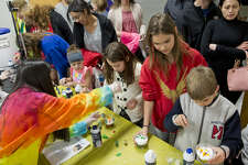Children try different experiments Jan. 25 at the Petroleum Museum's Family Science Night. Fasken Elementary is hosting a STEM event on Thursday.