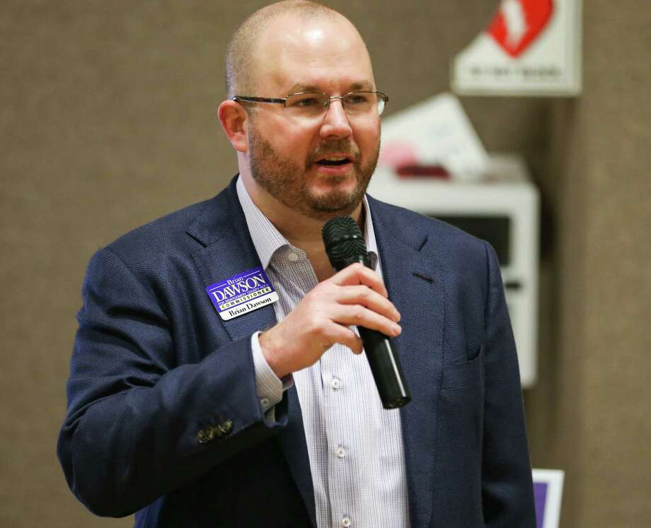 Brian Dawson, candidate for Precinct 2 Commissioner, introduces himself during a meet and greet with local Montgomery County candidates for office on Sunday, Feb. 18, 2018, at Conroe Church of Christ. Photo: Michael Minasi, Staff Photographer / © 2017 Houston Chronicle