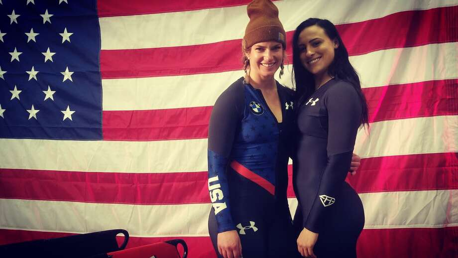 Kyle Plante (right) with Kristi Koplin. Plante discovered her passion for bobsledding after taking her first ride. Want to see if you have what it takes to compete in an Olympic sport? Find out where you can try in New York State. (Provided photo)