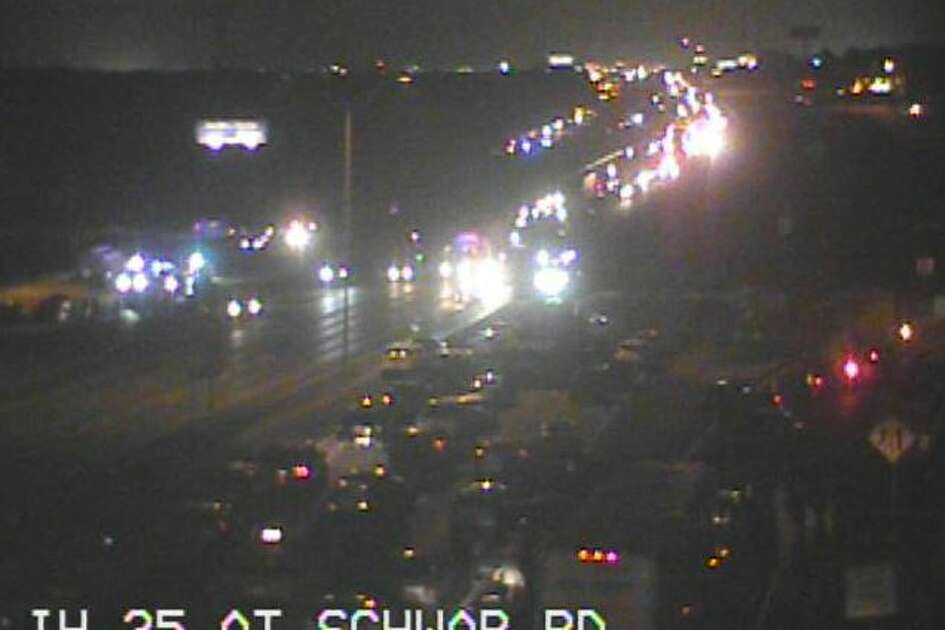 Interstate 35 was closed in both directions after 7 p.m. Monday Feb. 19, 2018, as law enforcement dealt with some type of incident. Access roads were also closed at Schwab Road.