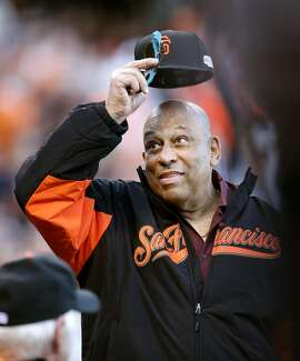 Former Giant Orlando Cepeda is honored before Game 3 of the World Series at AT&T Park on Friday, Oct. 24, 2014 in San Francisco, Calif.