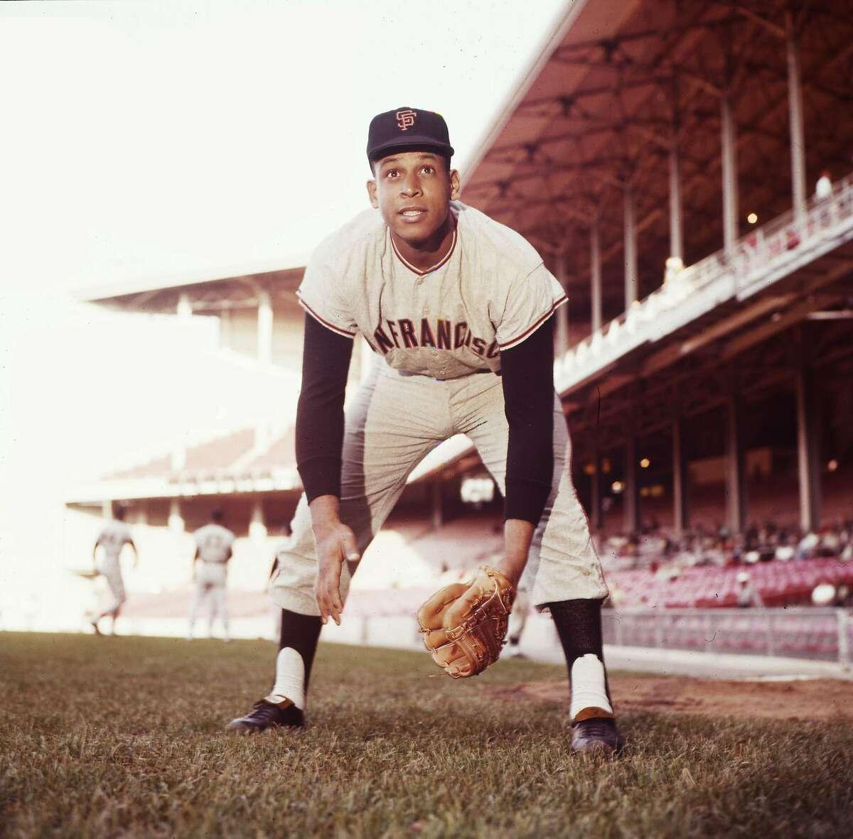 Orlando Cepeda, in his rookie season, visits Connie Mack Stadium in Philadelphia in the summer of 1958.