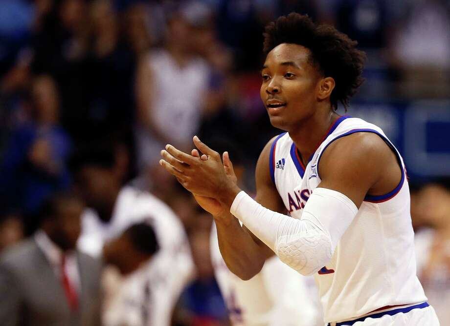 LAWRENCE, KS - NOVEMBER 10:  Devonte' Graham #4 of the Kansas Jayhawks reacts after scoring during the game against the Tennessee State Tigers at Allen Fieldhouse on November 10, 2017 in Lawrence, Kansas.  (Photo by Jamie Squire/Getty Images) ORG XMIT: 775058405 Photo: Jamie Squire / 2017 Getty Images