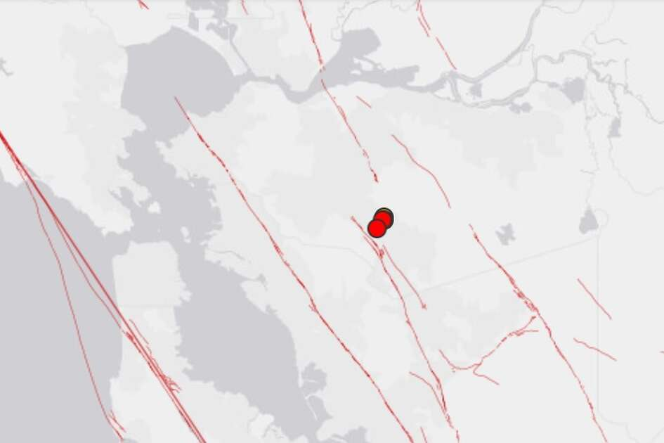 A series of 4 small quakes was reported by the USGS Tuesday, February 20th, 2018 near Mount Diablo