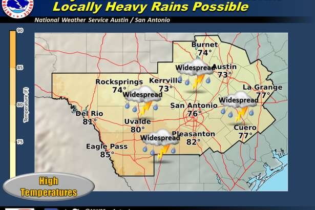 Light rain started sprinkling San Antonio Tuesday morning and is expected to continue to do so in patches through Wednesday night, according to the National Weather Service.
