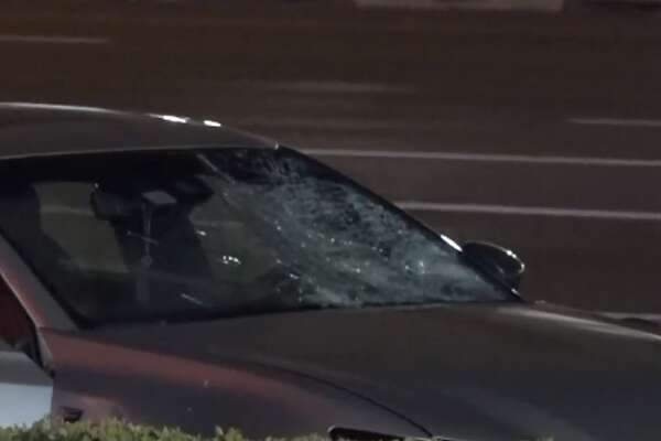 A 17-year-old is in critical condition after he was hit by a car on the Southwest Freeway, Monday Feb. 19, 2018.