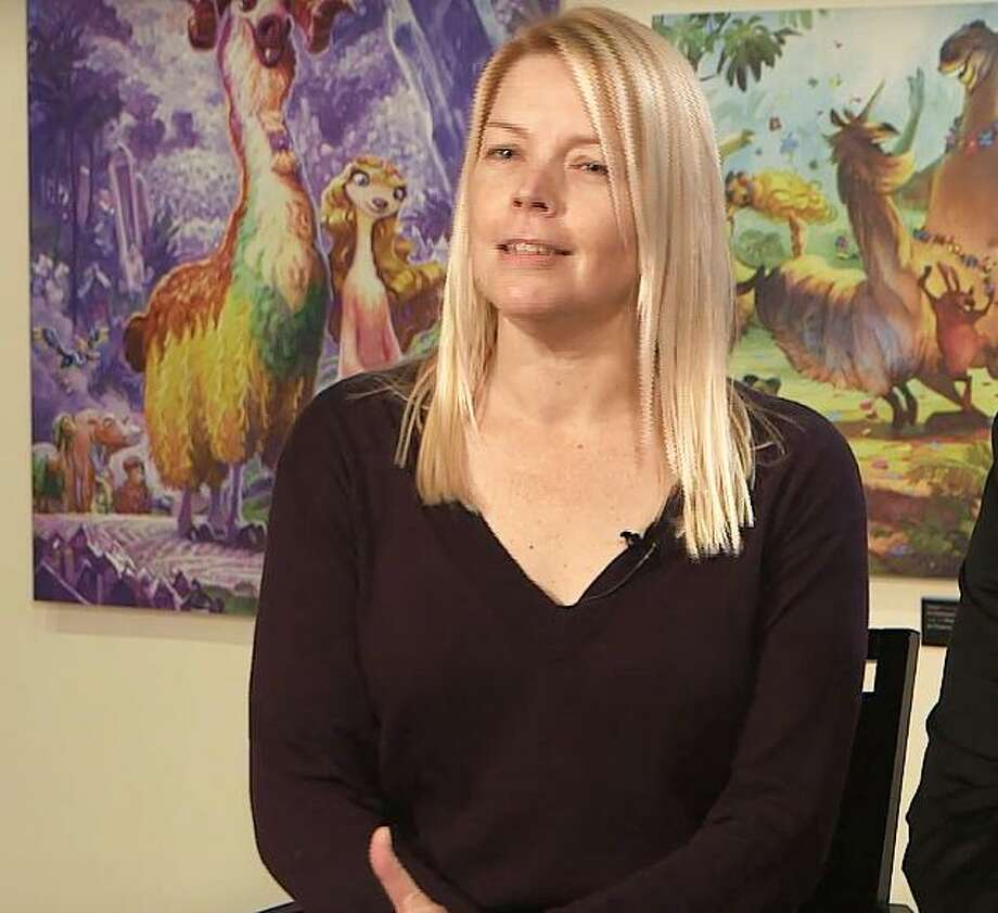 "Karen Disher in 2016 in Paris, during an exhibition of Blue Sky Studios art. In February 2018, Disher was named the first woman in Blue Sky Studios history to direct a major feature film, sharing the duties with Steve Martino for ""Foster"" scheduled for release in 2021. (Screenshot via Fox/YouTube) Photo: /"