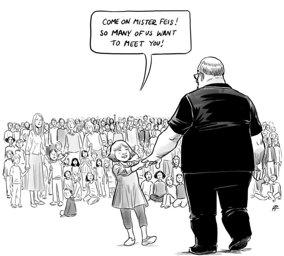 "The ""Hero's Welcome"" editorial cartoon by Canadian artist Pia Guerra. Photo: Courtesy Pia Guerra / The Washington Post"