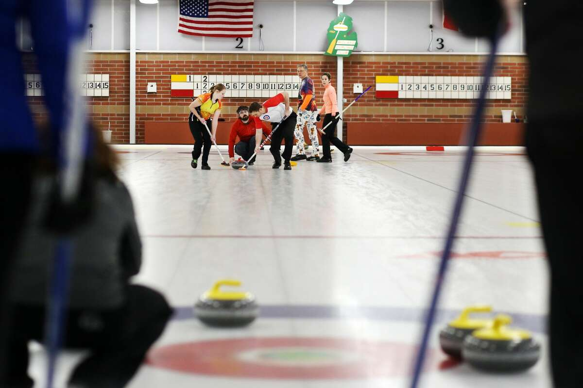 Great Lakes Curling Association's Mixed Curling Championship at the Midland Curling Center in Midland on Sunday, Feb 19, 2018. (Samantha Madar/for the Daily News)