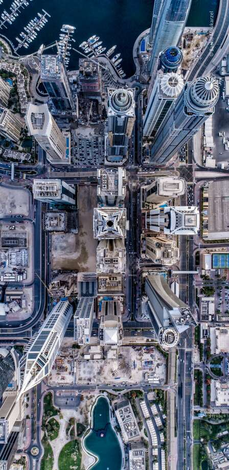 Drone photographer Bachir Moukarzel captures incredible new perspectives of Dubai by looking at the city's infrastructure and buildings at a 90-degree angle from above the sites. He shares his photos with tens of thousands of followers on Instagram. Photo: Bachir Moukarzel, Bachir_photo_phactoy