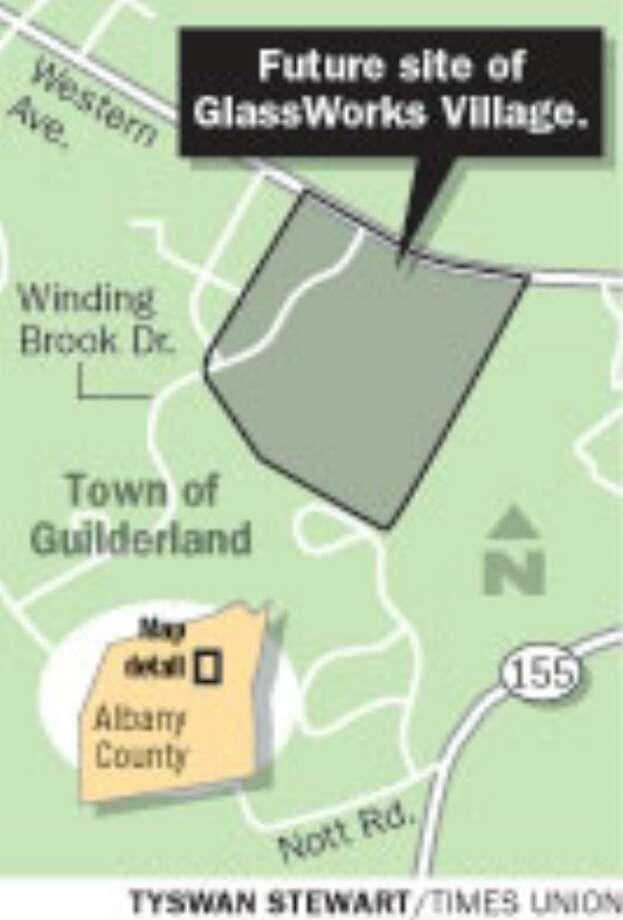 Future site of GlassWorks Village. (Tyswan Stewart / Times Union)