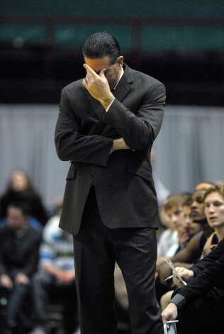 Canisius head coach Tom Parrotta on the sidelines during Siena's 82-70 win over Canisius at the Times Union Center in Albany Monday night January 11, 2010. (Philip Kamrass / Times Union) Photo: PHILIP KAMRASS / 00006713A