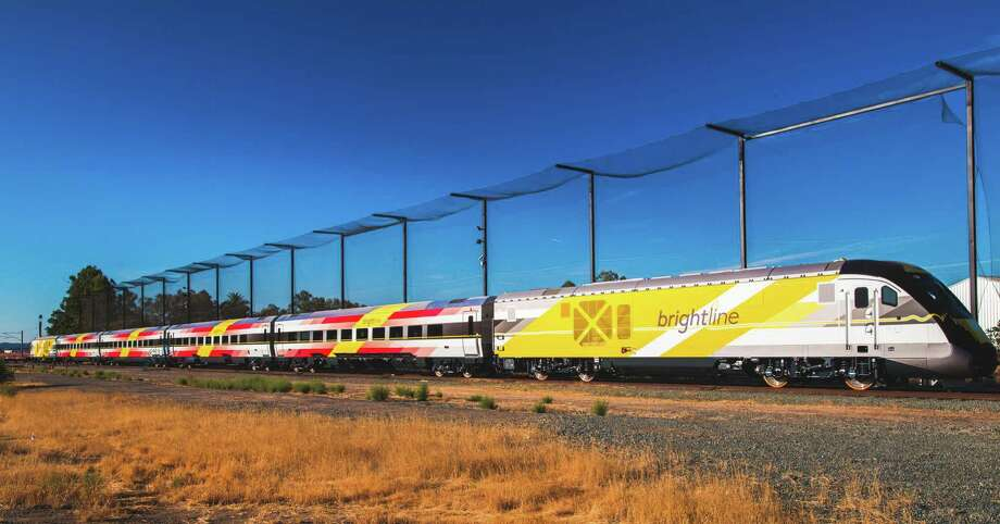 Brightline, a privately owned, for-profit passenger railroad, launched in Florida last month. Photo: Courtesy Of Brightline