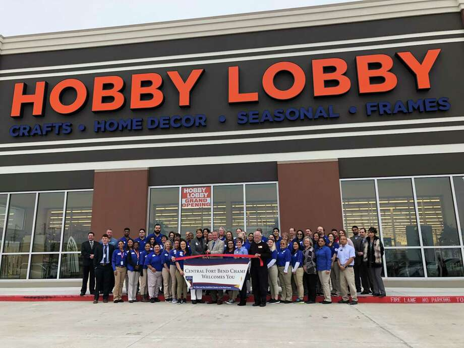 Hobby Lobby staff and Central Fort Bend Chamber representatives joined together on Feb. 12 to officially open the new store serving the Richmond and Rosenberg communities. Photo: Courtesy Photo