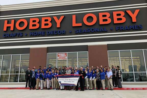 Hobby Lobby staff and Central Fort Bend Chamber representatives joined together on Feb. 12 to officially open the new store serving the Richmond and Rosenberg communities.