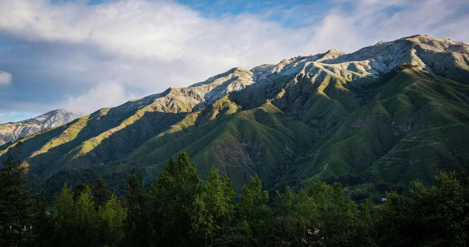 "The Santa Lucia mountains were dusted in snow on Feb. 19, 2018. Jim Tang writes on Twitter, ""Taken from Big Sur Village. Snow was gone by 10 AM."" Photo: Jim Tang / Twitter @wxmann / IG @thewxmann"