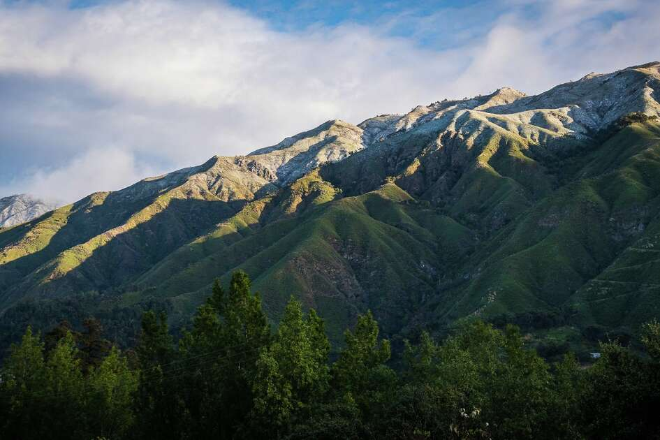 """The Santa Lucia mountains were dusted in snow on Feb. 19, 2018. Jim Tang  writes on Twitter , """"Taken from Big Sur Village. Snow was gone by 10 AM."""""""
