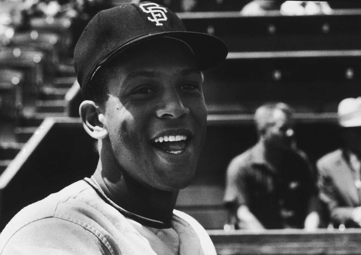 Giants player Orlando Cepeda at ballpark in 1959.