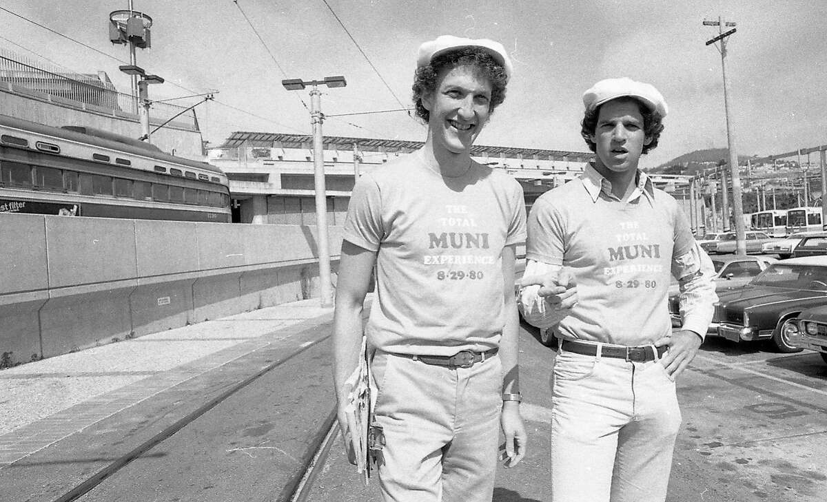 Andrew Coblentz and Larry Baer during their 1980