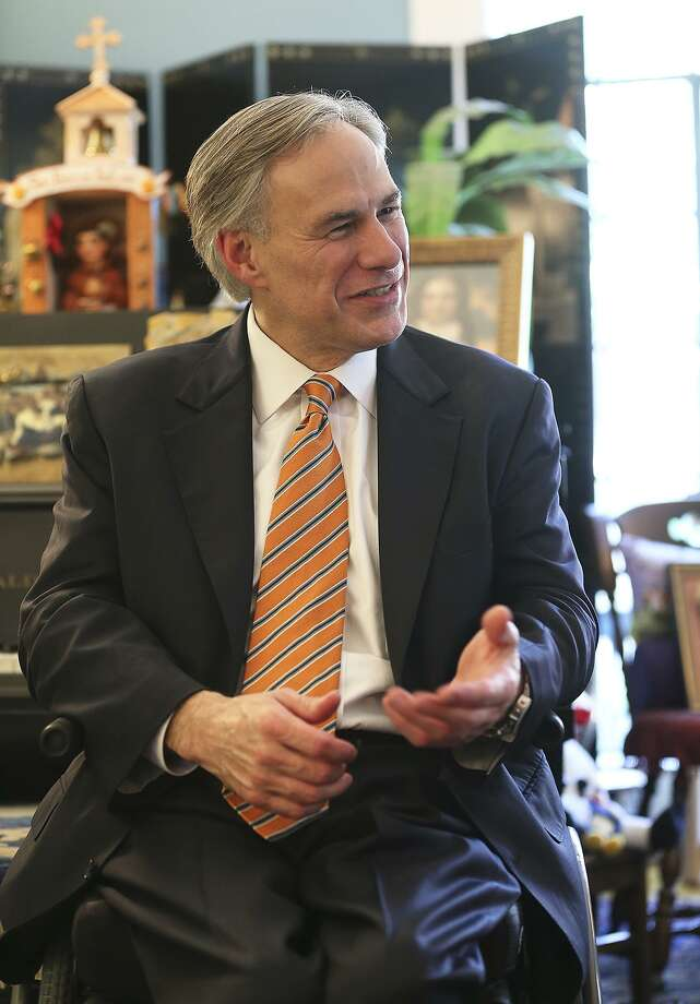 Texas Attorney General Greg Abbott visits his wife Cecilia's  parents' home in San Antonio on June 28, 2013. Photo: TOM REEL