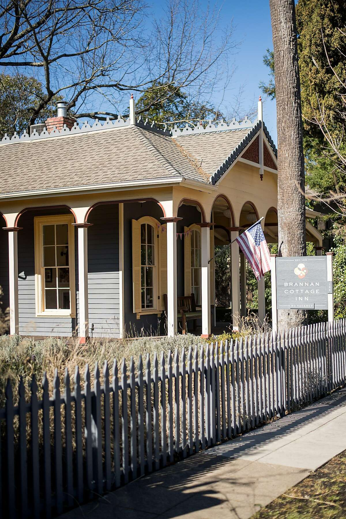 The Brannon Cottage Inn is pictured in Calistoga, Calif., on Saturday, Feb. 17, 2018.