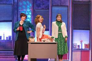 "From left:�Violet (Glenna Murillo), Doralee (Allie Townsend) and Judy (Rachelle Abbey) team up against their sexist boss in ""9 to 5 The Musical,"" presented by Foothill Music Theatre."