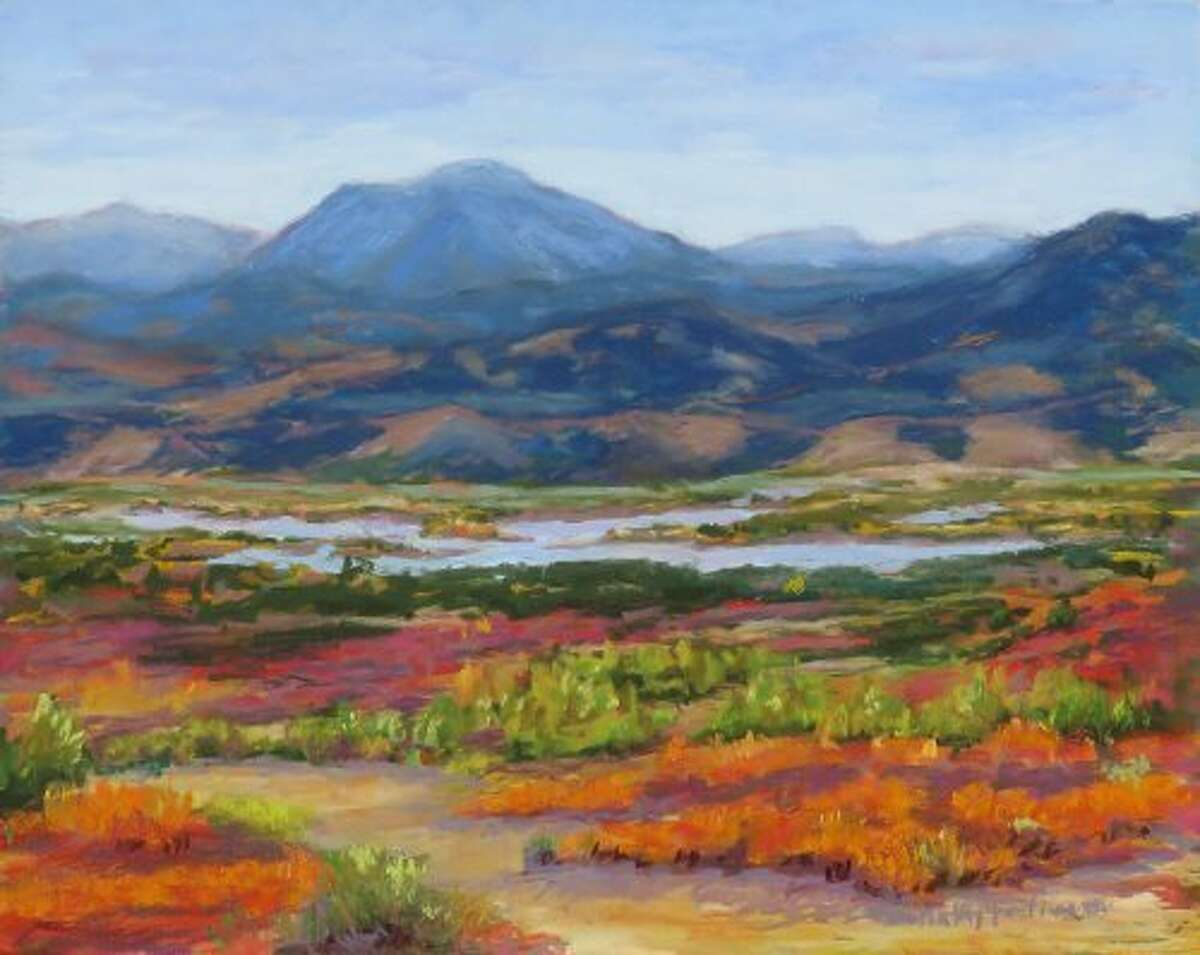 """A pastel painting by Kathy Fediw titled """"When Autumn Comes."""" Kathy will be leading the group of Plein Air painters at the 2018 Rising Stars and Legends event."""