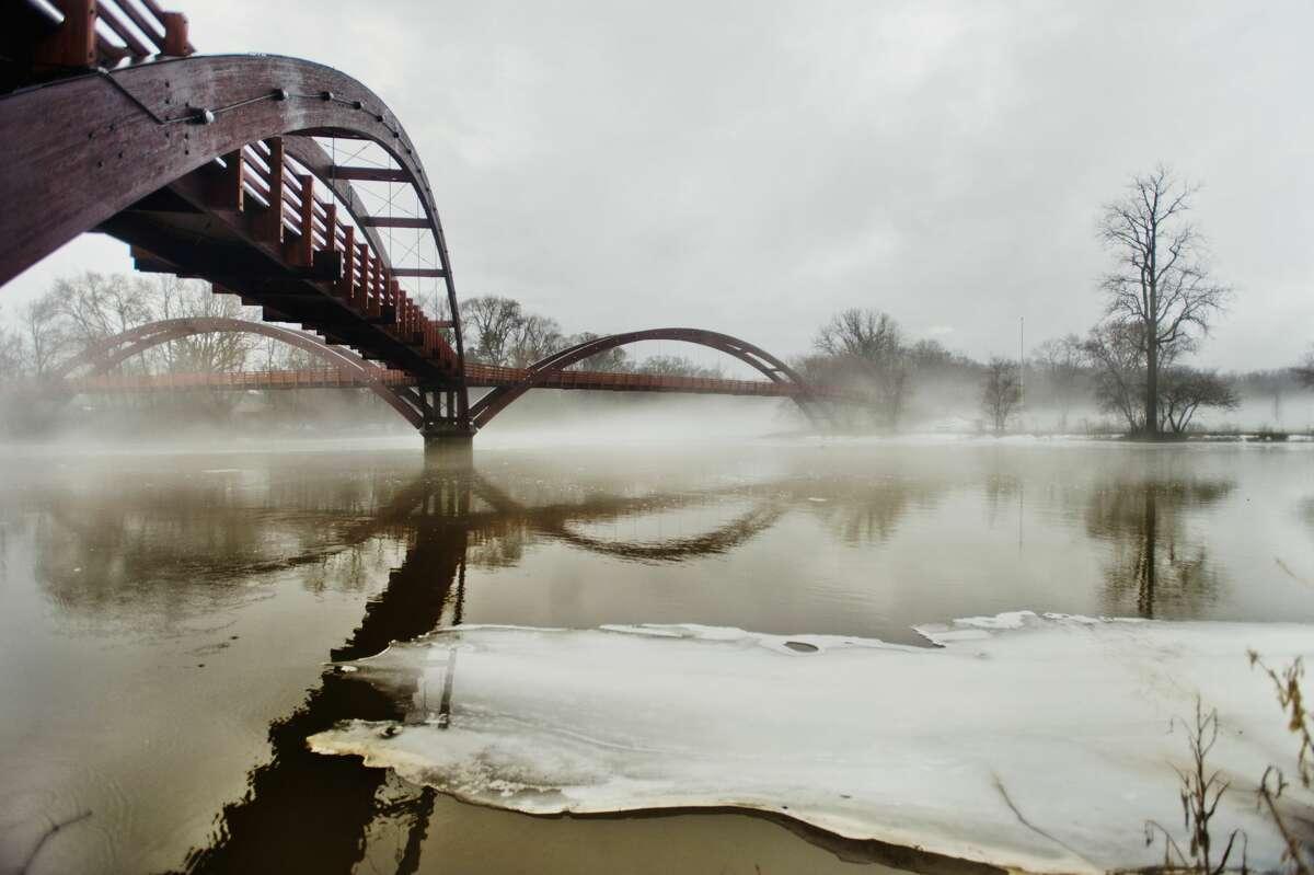 Fog blankets the Tridge on Tuesday, Feb. 20, 2018 in Midland. (Katy Kildee/kkildee@mdn.net)