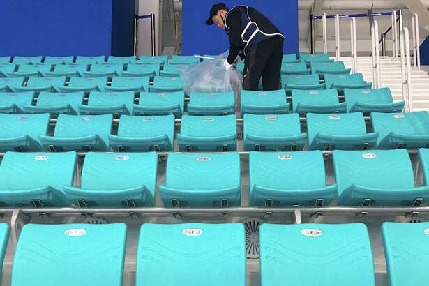 During these Olympics, South Korea is depending on elderly workers to clean arena seats and bathrooms.