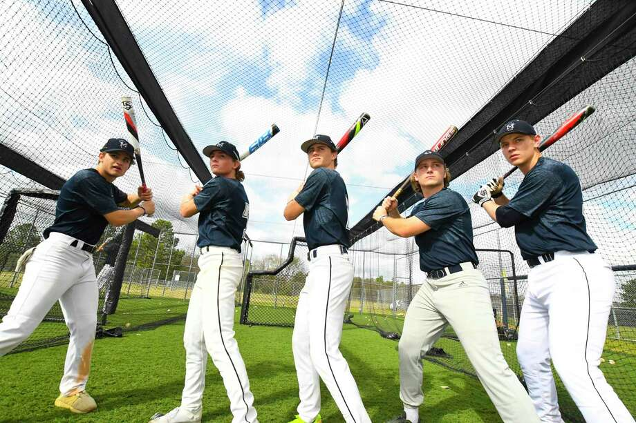 Tomball Memorial has made tremendous growth in the hitting department with Sage Stewart, (6) Austin Raccaforte, (7) Trenton Chim, (2) Dru Baker, (8) Justin Ruble, (34). Photo: Tony Gaines/ HCN, Staff / Houston Chronicle