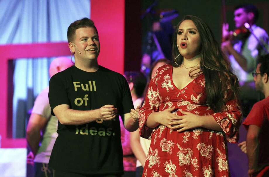 "Joshua Buce and Nora Martinez are two of the leads for ""The Music of Andrew Lloyd Webber."" The leads play couples at various stages in relationships. Photo: Tom Reel /San Antonio Express-News / 2017 SAN ANTONIO EXPRESS-NEWS"