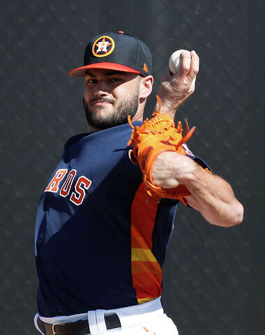 ac1e83cddc04d2 Houston Astros RHP pitcher Lance McCullers Jr. (43) throws a bullpen  session as