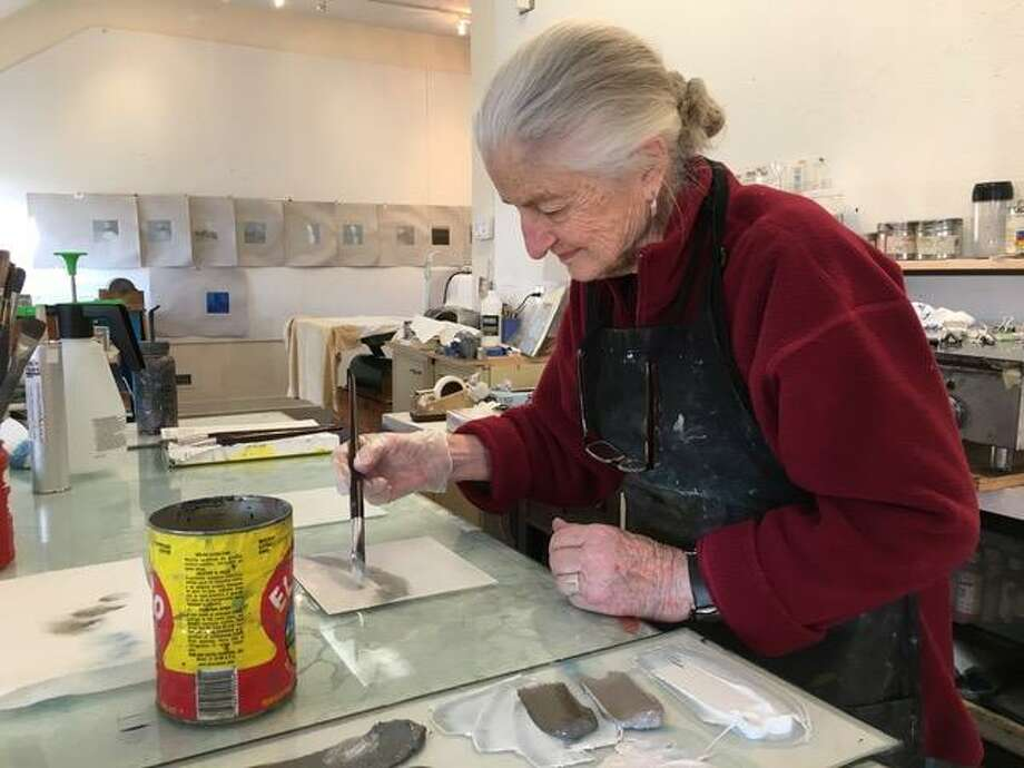 A new exhibit by Lou Hicks and Marina Ancona will be opening at the Center for Contemporary Printmaking from 2-4 p.m. on Sunday, Feb. 25. Photo: Contributed Photo
