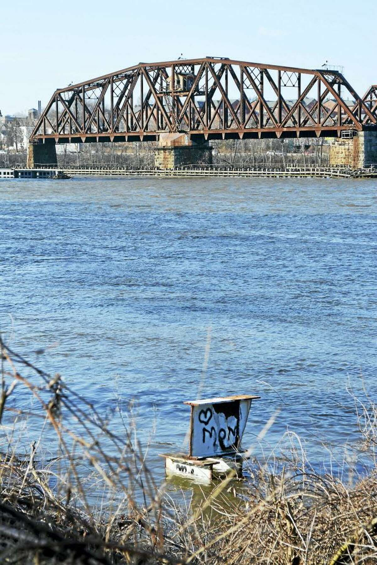 A view of the Connecticut River from the Portland side