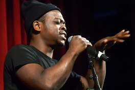 Kahlil Williams performs as the Wall Street Theater hosts Connecticut's Got Talent, an audition in front of a live audience to showcase local talent Friday, Feb. 2 in Norwalk. Contestants can win both cash and a chance for a headline show at the theater.