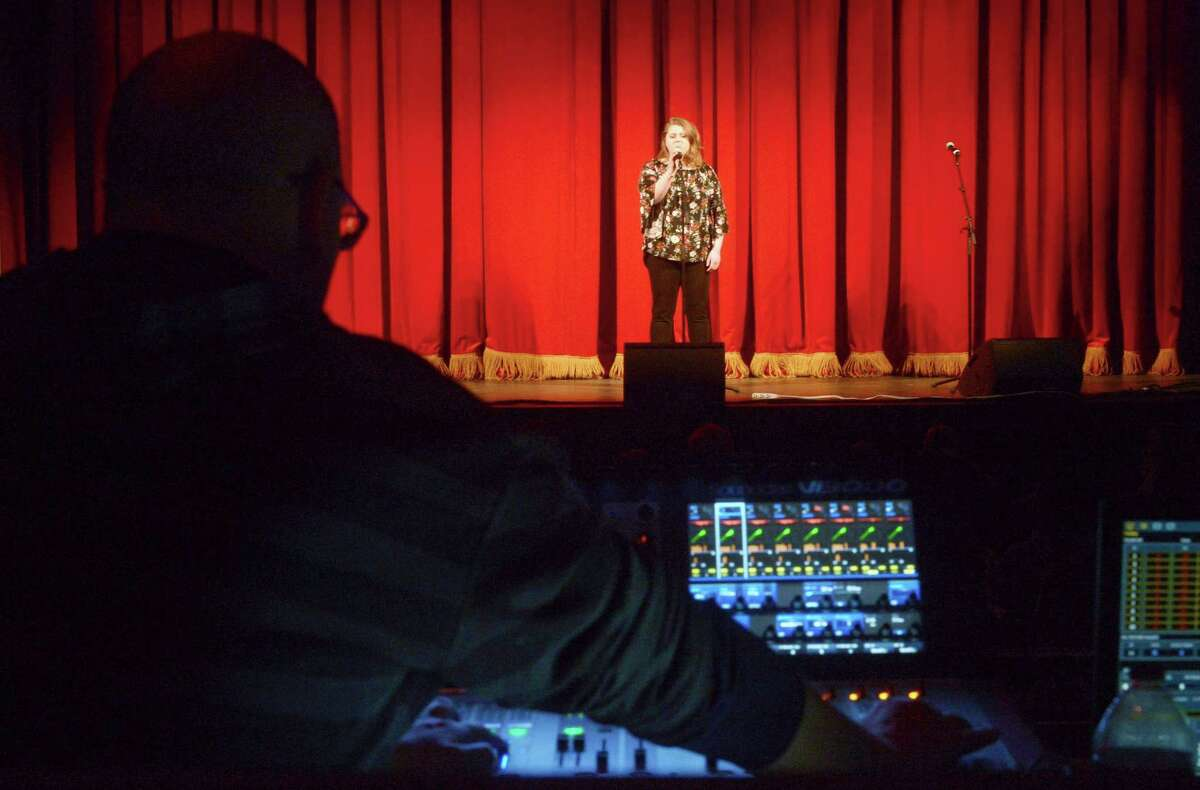 Contestant Bella Bardo performs as the Wall Street Theater hosts Connecticut's Got Talent, an audition in front of a live audience to showcase local talent Friday, Feb. 2 in Norwalk. Contestants can win both cash and a chance for a headline show at the theater.