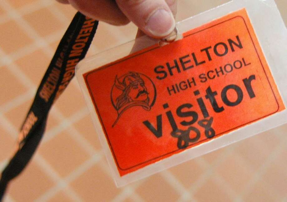 Security at Shelton High School on Monday Feb. 28, 2011. Photo: Cathy Zuraw / ST / Connecticut Post