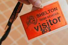 Security at Shelton High School on Monday Feb. 28, 2011.