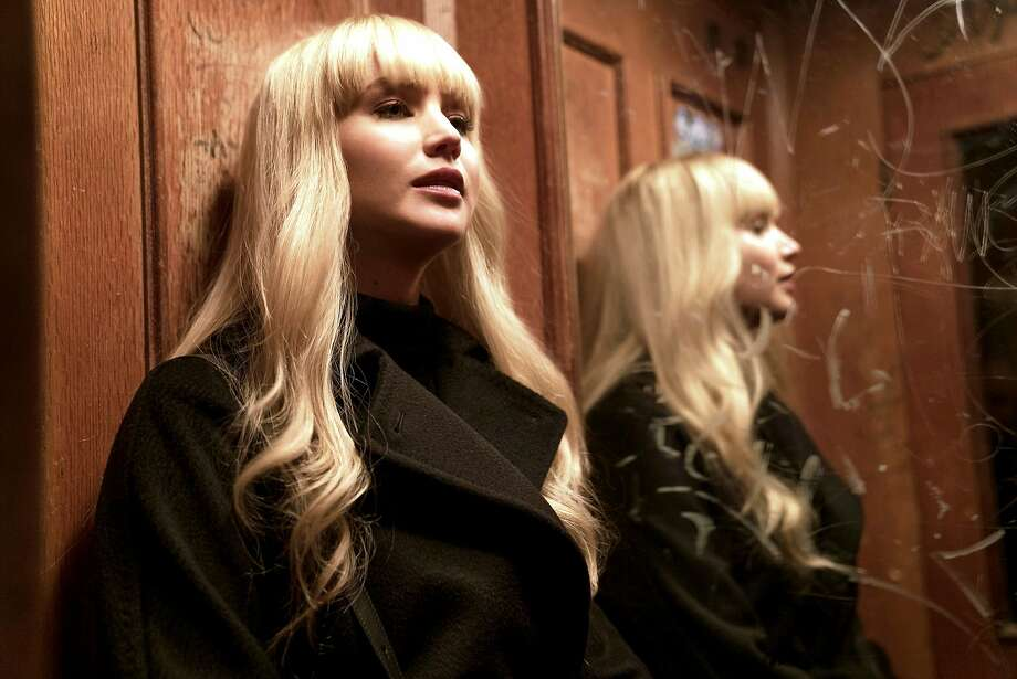 """Jennifer Lawrence hates the spying life she's been thrust into in """"Red Sparrow."""" Photo: 20th Century Fox"""