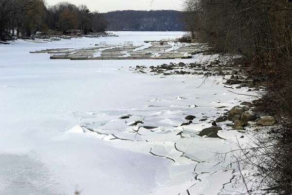 Candlewood Lake near the entrance to Candlewood Shores in Brookfield on Jan. 2.