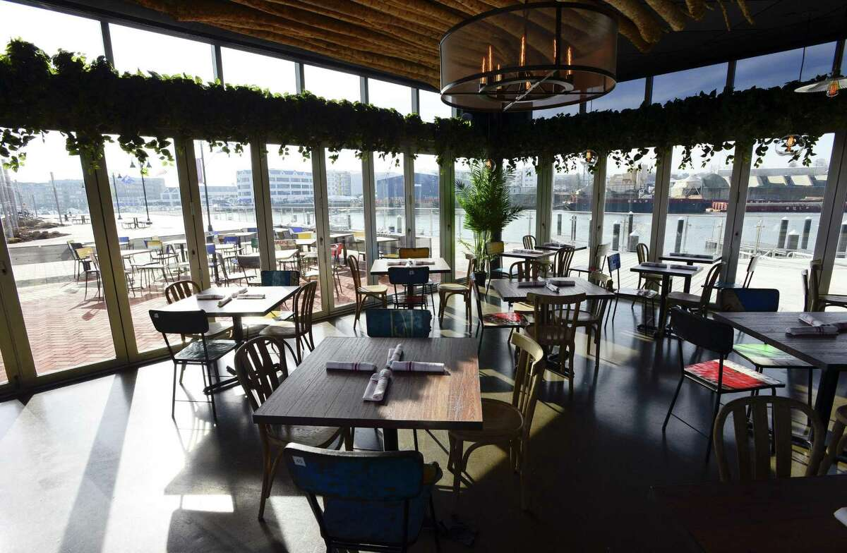 The new Mexicue restaurant at 15 Harbor Point Road overlooks the west branch of the Rippowam River.