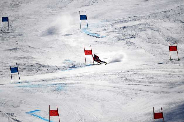 Japan's Tomoya Ishii competes in the Men's Giant Slalom at the Jeongseon Alpine Center during the Pyeongchang 2018 Winter Olympic Games in Pyeongchang on February 18, 2018. Photo: MARTIN BERNETTI/AFP/Getty Images