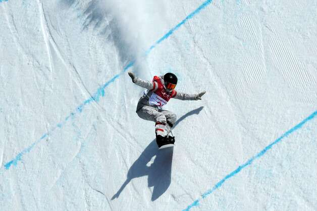 US Jessika Jenson competes during the qualification of the women's snowboard big air event at the Alpensia Ski Jumping Centre during the Pyeongchang 2018 Winter Olympic Games on February 19, 2018 in Pyeongchang. Photo: KIRILL KUDRYAVTSEV/AFP/Getty Images