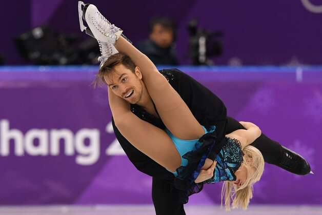 Britain's Penny Coomes and Britain's Nicholas Buckland compete in the ice dance free dance of the figure skating event during the Pyeongchang 2018 Winter Olympic Games at the Gangneung Ice Arena in Gangneung on February 20, 2018. Photo: MLADEN ANTONOV/AFP/Getty Images