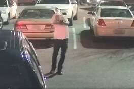Police released these surveillance images of the suspect who shot five people outside Texas Roadhouse on Cinema Ridge.