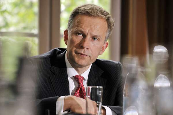 (FILES) In this file photo taken on May 28, 2009 Governor of the Central Bank of Latvia Ilmars Rimsevics is pictured at the Latvian embassy in Helsinki. The ECB decision comes after Latvian central bank governor Ilmars Rimsevics, who sits on the ECB governing council, was arrested on February 17, 2018 by the country's Corruption Prevention Bureau (KNAB). / AFP PHOTO / LEHTIKUVA / MARKKU ULANDERMARKKU ULANDER/AFP/Getty Images