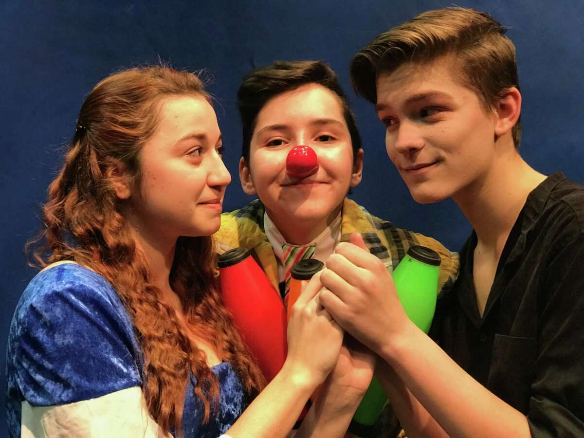 """Circophany presents """"As You Wish"""" in Middletown. From left are Tatyana Johnson of Middletown, Sydney Feinberg of Guilford and Rowan Trowbridge-Wheeler of Middletown."""
