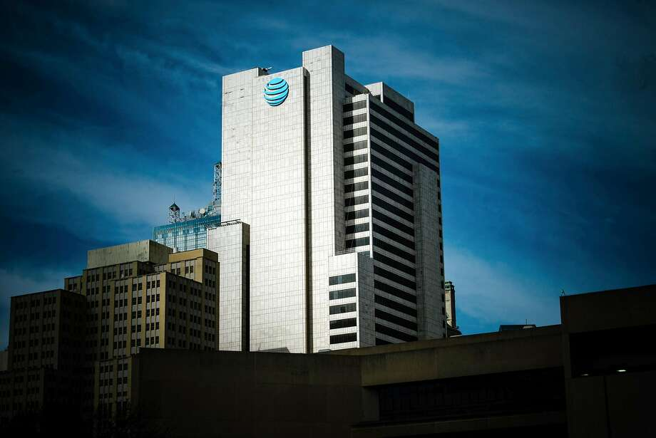 FILE -- The AT&T corporate headquarters building in downtown Dallas, Nov. 21, 2017. A federal judge blocked AT&T's ability to obtain communication logs between the Justice Department and the White House on Feb. 20, 2018, hampering the phone giant's argument that politics played a role in the government's decision to halt a merger with Time Warner. (Brandon Thibodeaux/The New York Times) Photo: BRANDON THIBODEAUX, NYT