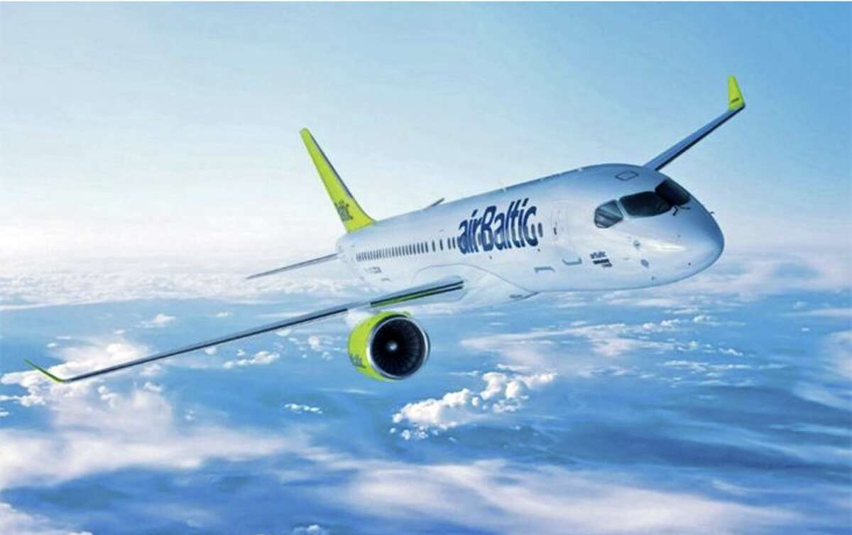 Europe's Air Baltic uses the Bombardier CS300 jet-